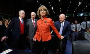 Gabrielle Giffords at the Senate hearing
