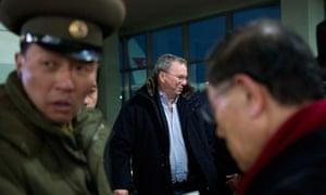 Google CEO Eric Schmidt arrives in Pyongyang