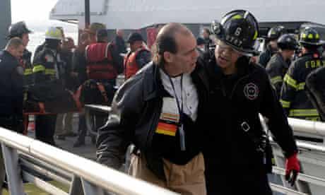 Injured passenger, Manhattan ferry