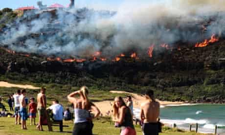 Bushfire in Palm Beach, New South Wales, Australia