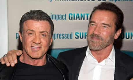 """Stallone and Schwarzenegger attend the premiere of """"Escape Plan"""" in New York"""