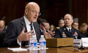 James Clapper, left, and Keith Alexander of the NSA
