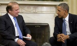 Pakistani PM Nawaz Sharif and Obama