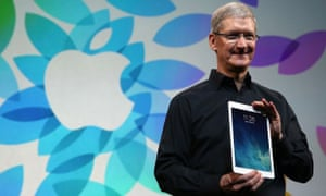 Tim Cook with the new iPad Air