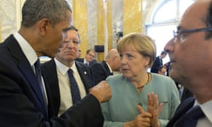 Obama, Merkel, Hollande