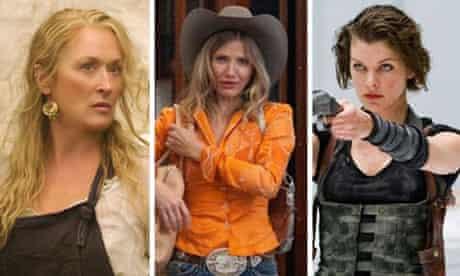 Composite of Meryl Streep, Cameron Diaz and Milla Jovovich