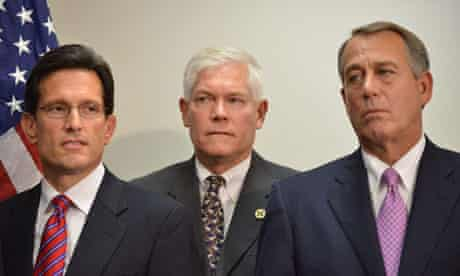 John Boehner with Eric Cantor and Pete Sessions (middle)