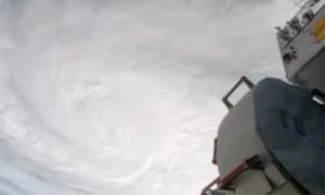 Images of typhoon Haiyan from space