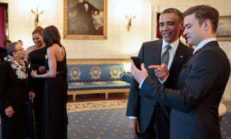Barack Obama and Justin Timberlake