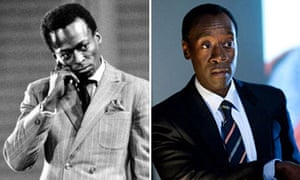 Composite of Miles Davis and Don Cheadle