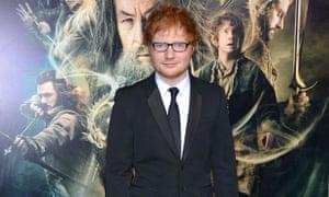 Ed Sheeran at The Hobbit: Desolation of Smaug premiere