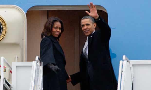 Barack Obama, Michelle Obama leave for Nelson Mandela memorial