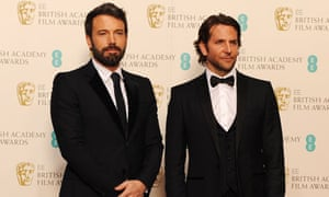 Ben Affleck and Bradley Cooper at the 2013 Bafta film awards ceremony