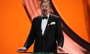 Stephen Fry hosting the 2013 Bafta awards ceremony
