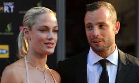 Oscar Pistorius and girlfriend Reeva Steenkamp