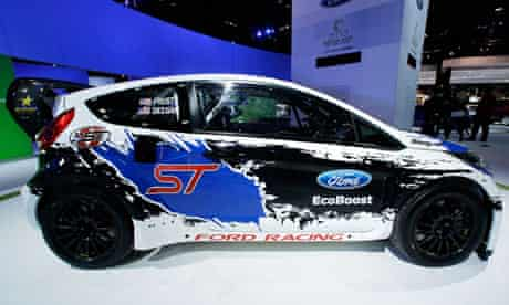 A Ford Fiesta ST on display at the Chicago Auto Show