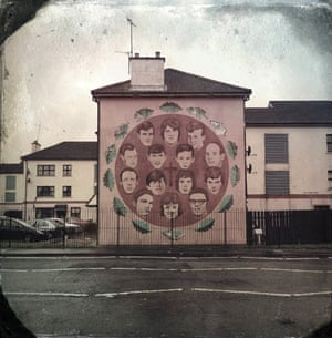 A mural in the bogside to the Bloody Sunday victims