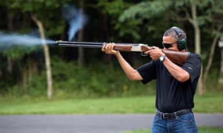 Barack Obama shooting at Camp David