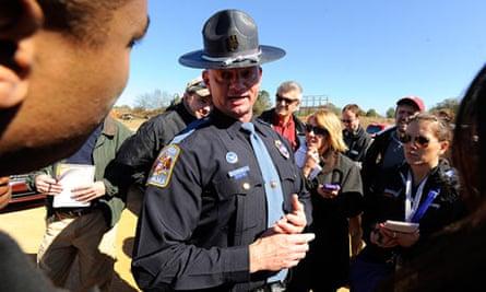Alabama police speak to the media in Midland City