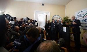 Italy's outgoing prime minister Mario Monti