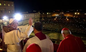 Pope Francis on the balcony of St Peter's Basilica