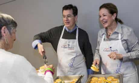 Stephen Colbert and Elizabeth Colbert Busch