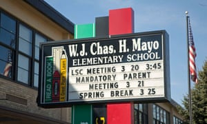 WJ Chas Mayo elementary school in Chicago, Illinois