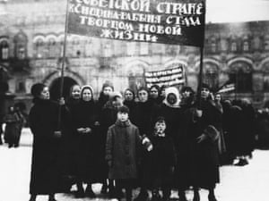Russian Women Workers in Red Square