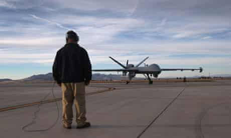An unmanned predator drone at a US base in Arizona