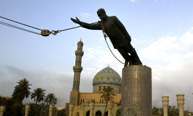 Saddam Hussein Statue Toppled In Bagdhad April 2003