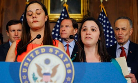 Relatives of victims of the Sandy Hook Elementary School shootings attend senate