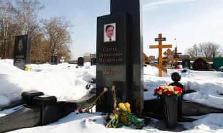 Sergei Magnitsky's grave in Moscow
