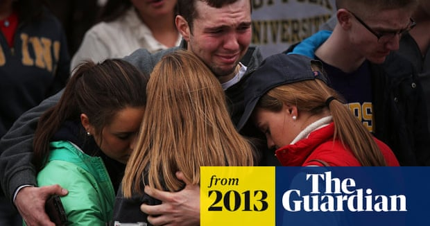 Boston vigil for marathon bombing victims – video