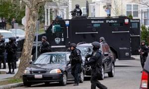 Swat teams in the neighbourhood in Watertown