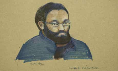 Chiheb Esseghaier, 30, during a court appearance in Montreal