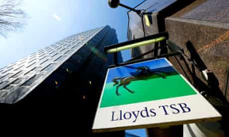 Lloyds TSB sign at branch in London