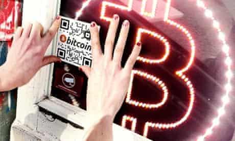 Composite of Bitcoin logo