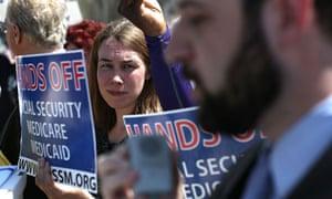 Washington budget cuts protest