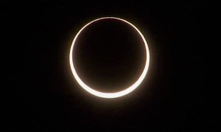 Solar eclipse as seen from Australia's outback.