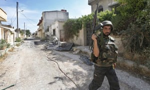 A Syrian army soldiers