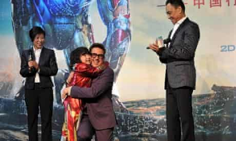 Robert Downey Jr at the Iron Man 3 premiere in Beijing