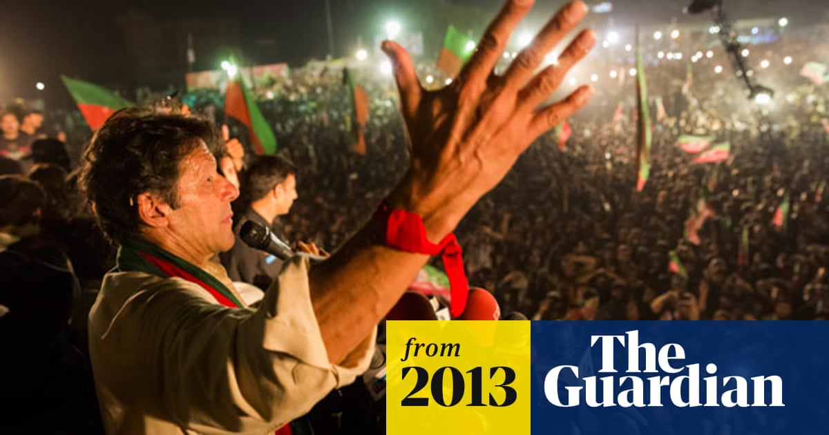 Imran Khan falls from stage at election rally in Lahore