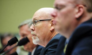 Gregory Hicks (centre) at the Benghazi hearing