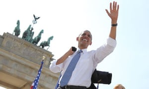 Obama at the Brandenberg Gate