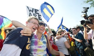 Gay marriage supporters at the supreme court