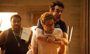 Craig Robertson, Seth Rogen and Jay Baruchel in This is the End