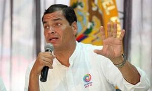 Ecuador's president Rafael Correa