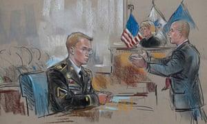 Bradley Manning trial: artist's impression