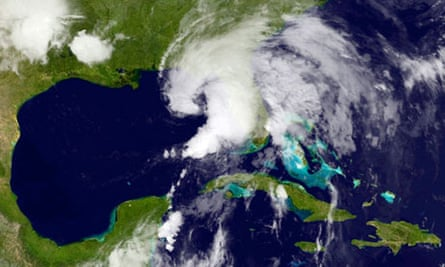 Tropical storm Andrea in the Gulf