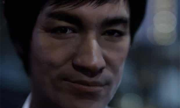 A CG Bruce Lee in an advert for Johnnie Walker Blue whisky.